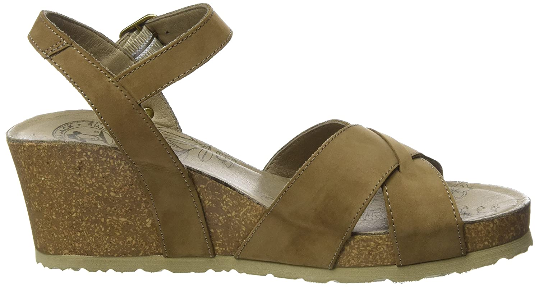 PANAMA JACK Damen Vika Basics Offene Sandalen Sandalen Sandalen mit Keilabsatz Braun (Taupe) 16f9ba