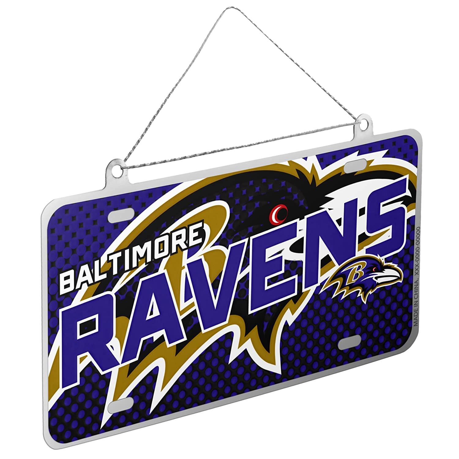 Baltimore Ravens NFL Metal License Plate Christmas Ornament by FC 236226