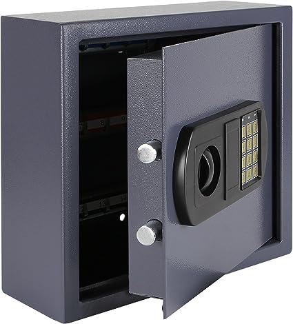HMF 2025-07 Caja fuerte para llaves, 25 ganchos, cerradura electrónica, 31 x 32 x 12 cm, antracita: Amazon.es: Oficina y papelería