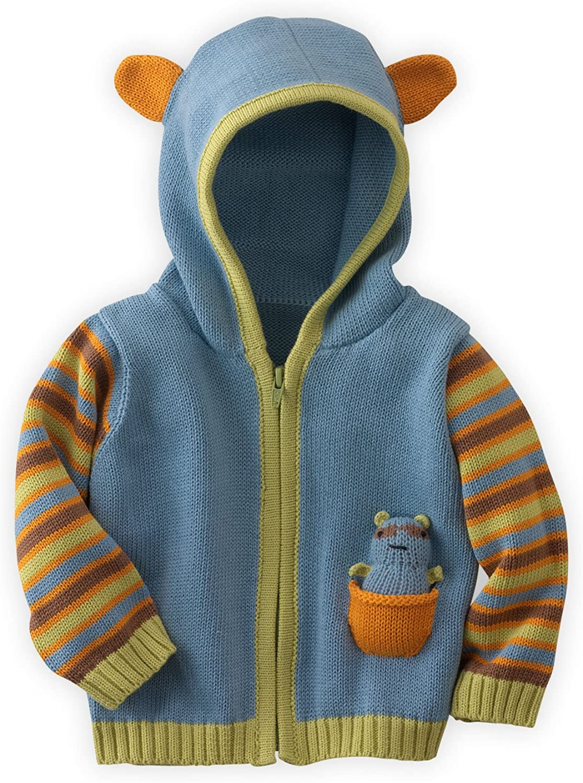 Joobles Fair Trade Organic Baby Cardigan Sweater Jiffy The Giraffe