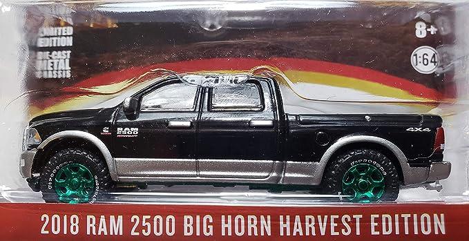 Greenlight Dodge Ram 2500 Big Horn 18 Black /& Silver Harvest Edition 30047 1//64