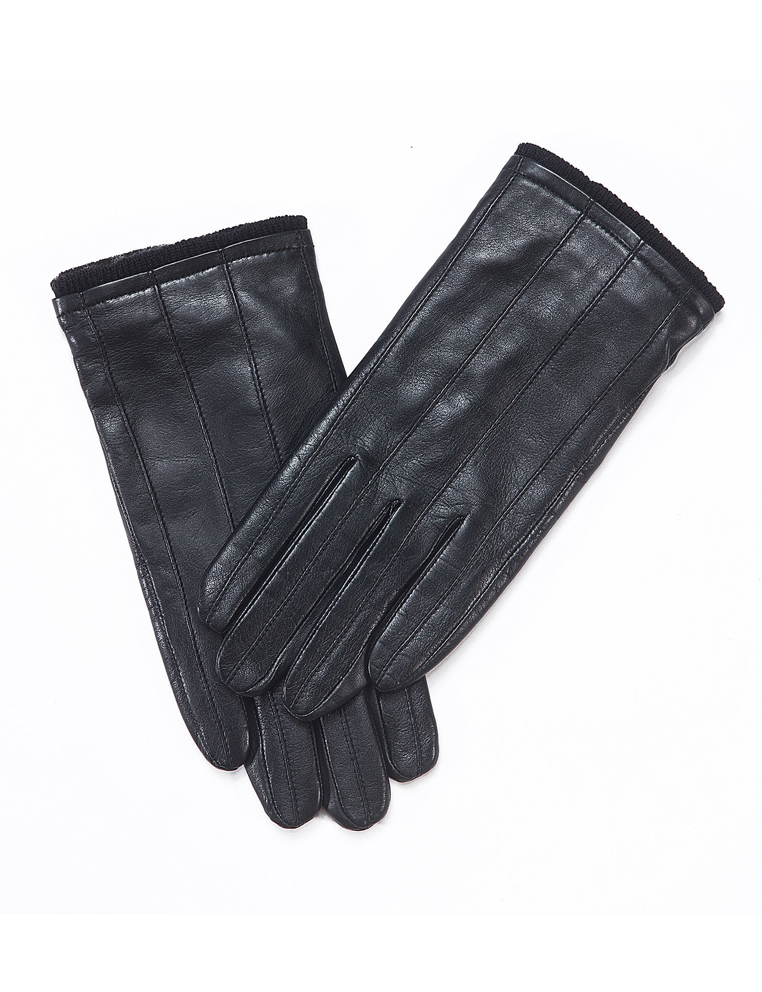 YISEVEN Men's Genuine Nappa Leather Lined Winter Gloves -Black/Touchscreen,Black,11''