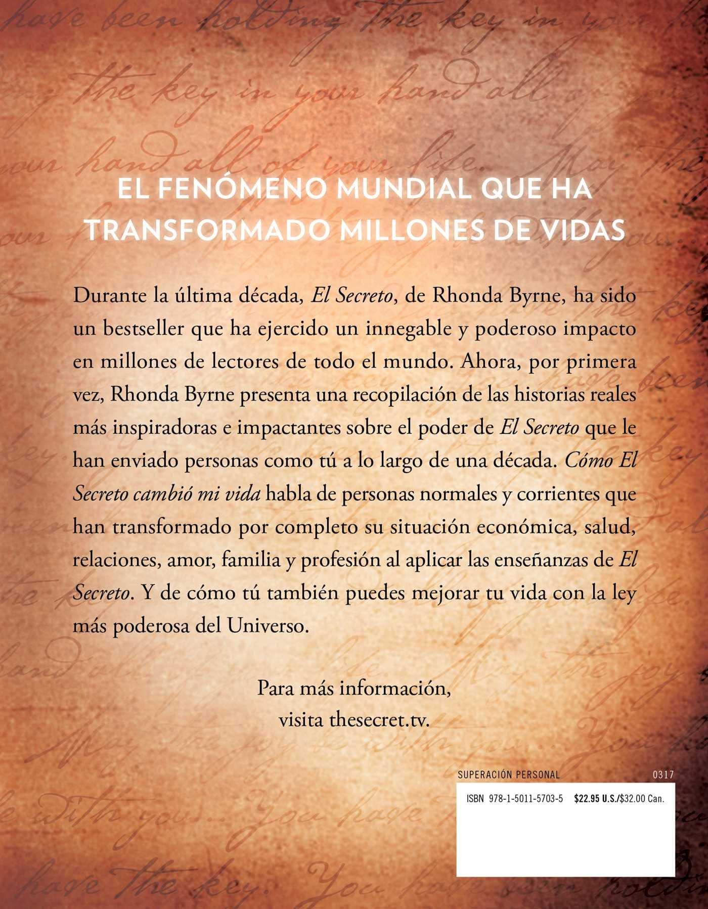 C mo el secreto cambi mi vida how the secret changed my life spanish edition gente real historias reales atria espanol rhonda byrne 9781501157035
