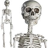 Prextex Scheletro Alto 76cm Halloween Halloween in Posa-Scheletro Halloween Corpo Completo con Giunture Mobili per la Miglior Decorazione di Halloween