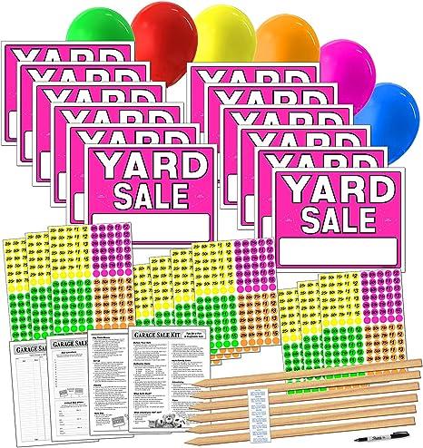 Amazon.com: Kit de carteles de venta de patio con pegatinas ...
