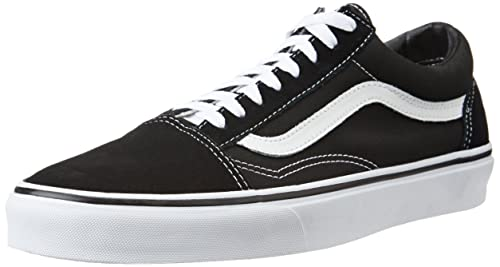 Vans Unisex Old Skool Black Leather Leather Sneakers - 7 UK/India (40.5 EU)