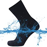 SuMade 100% Waterproof Socks, Unisex Men Women Breathable Dry Fit Moisture Wicking Hiking Cycling Kayaking Crew Socks