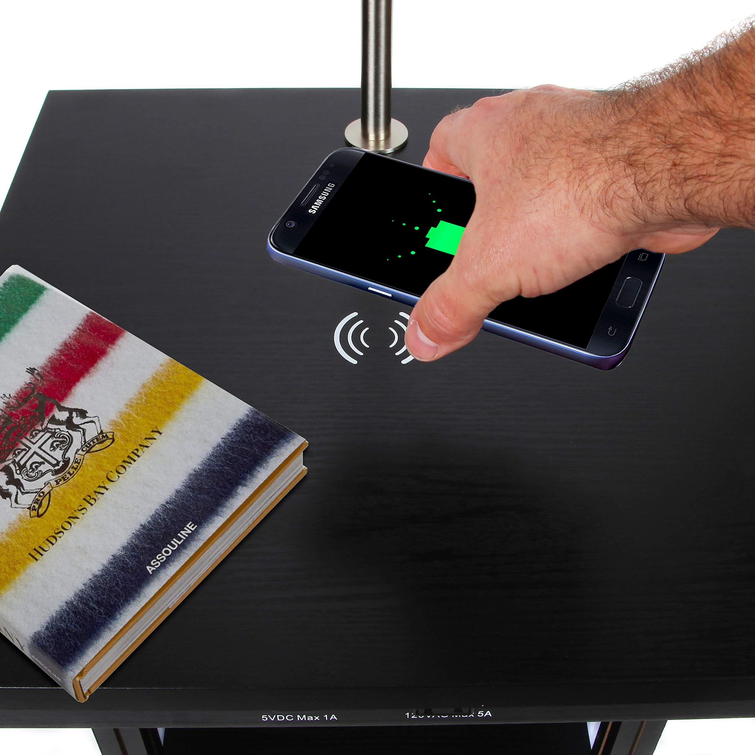 Brightech Madison w. Wireless Charging Station & USB port ...