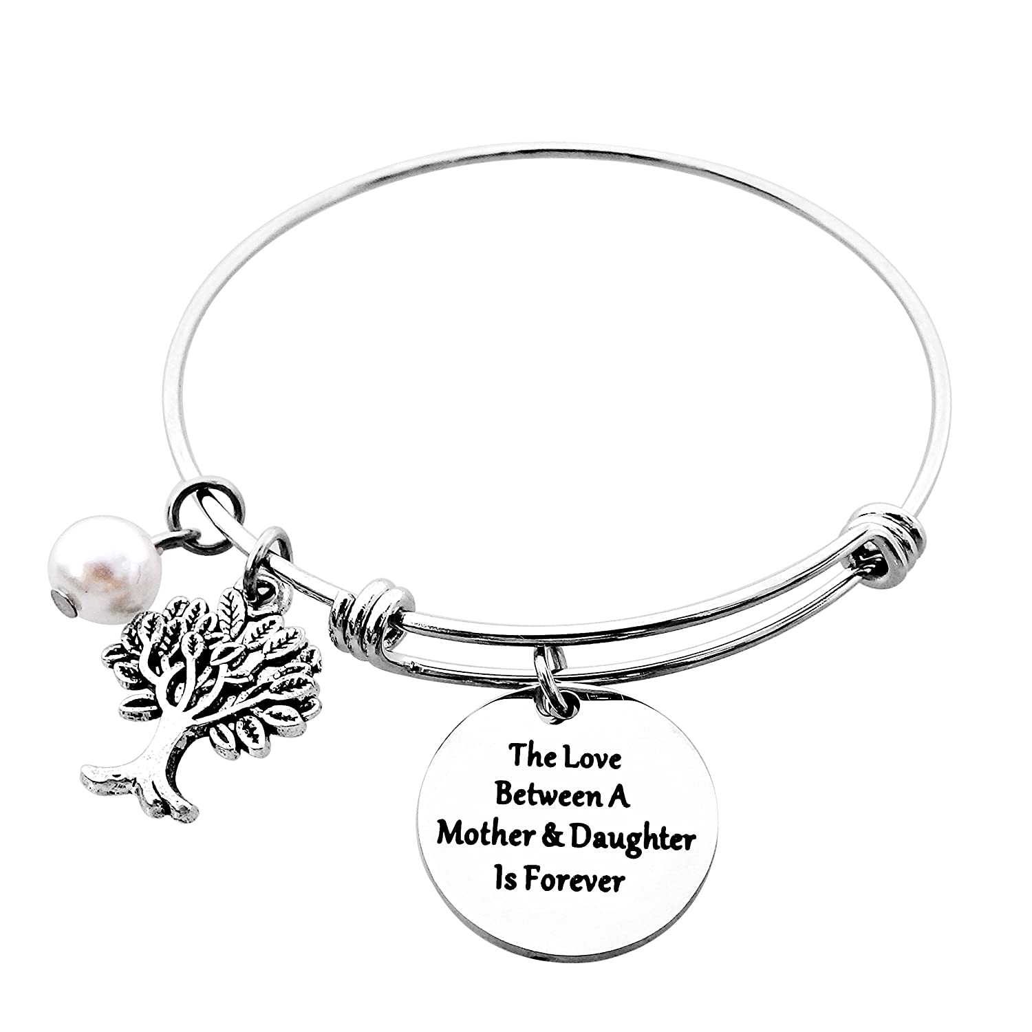 ALoveSoul Thank You For Raising The Man Of My Dreams Gift Inspirational Expandable Bangle Bracelet SOZ001