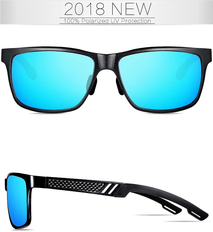 Gafas de Sol Polarizadas Hombre Al-Mg marco de Metal Ultra Light, Protección 100% UVA/UVB