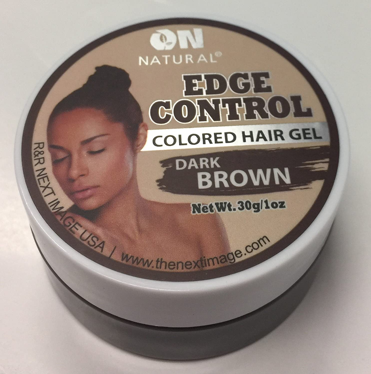 On Natural Edge Control Hair Colored Gel, Dark Brown, 1 Ounce