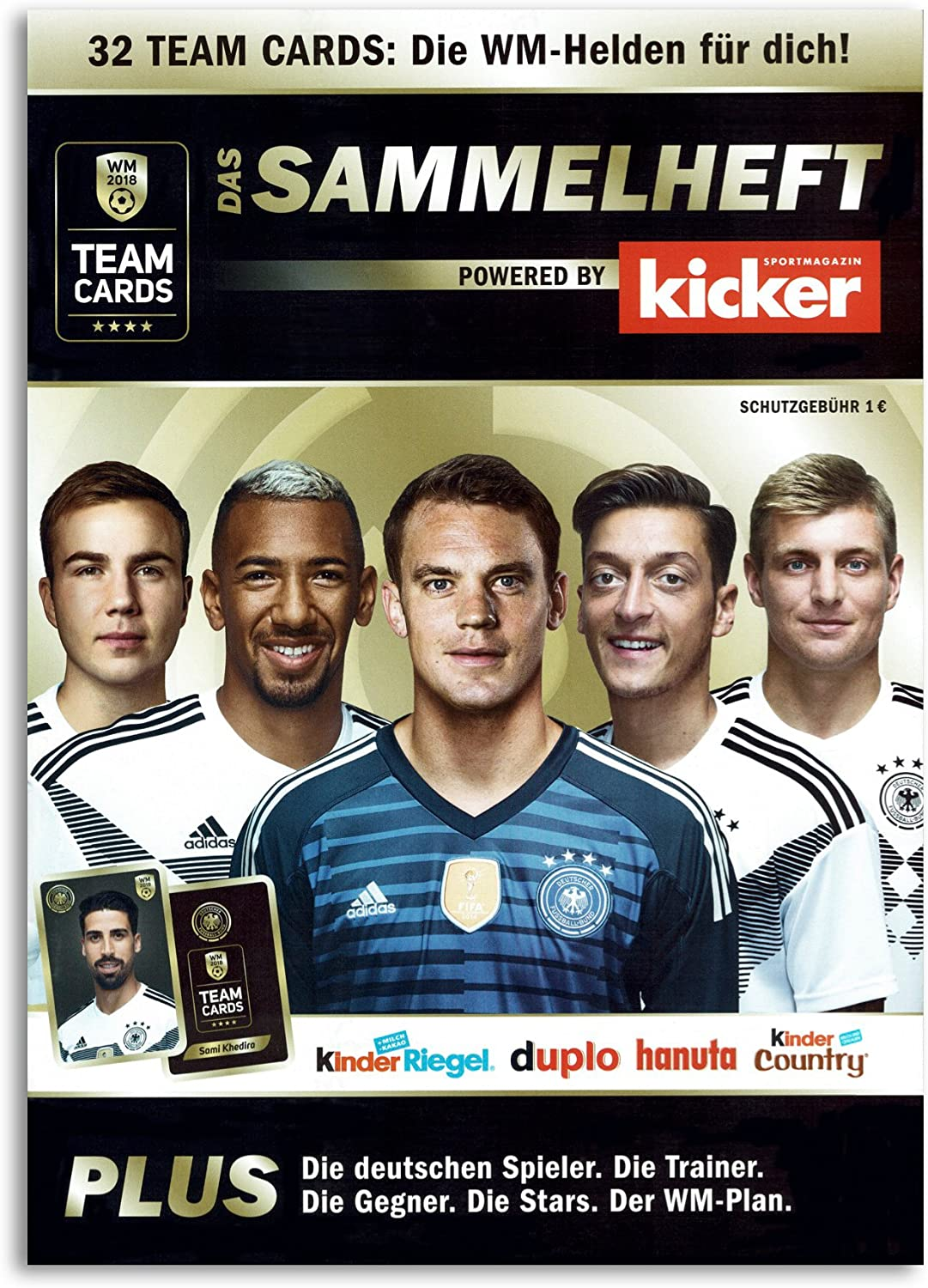 Team Cards sammel grapadora álbum de recortes WM 2018 futbolín ...