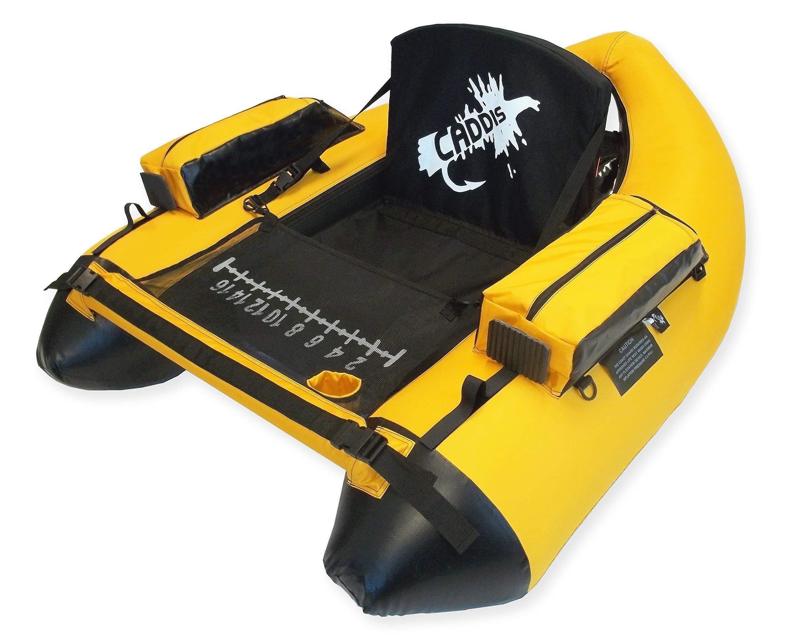 Caddis Sports Premier Plus Float Tube, Yellow (Renewed)