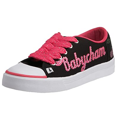 80c8f77037e0 Babycham Women s Babycham Basic Lace Cherry Trainer Black BC-BL-CHERRY-BLK 3