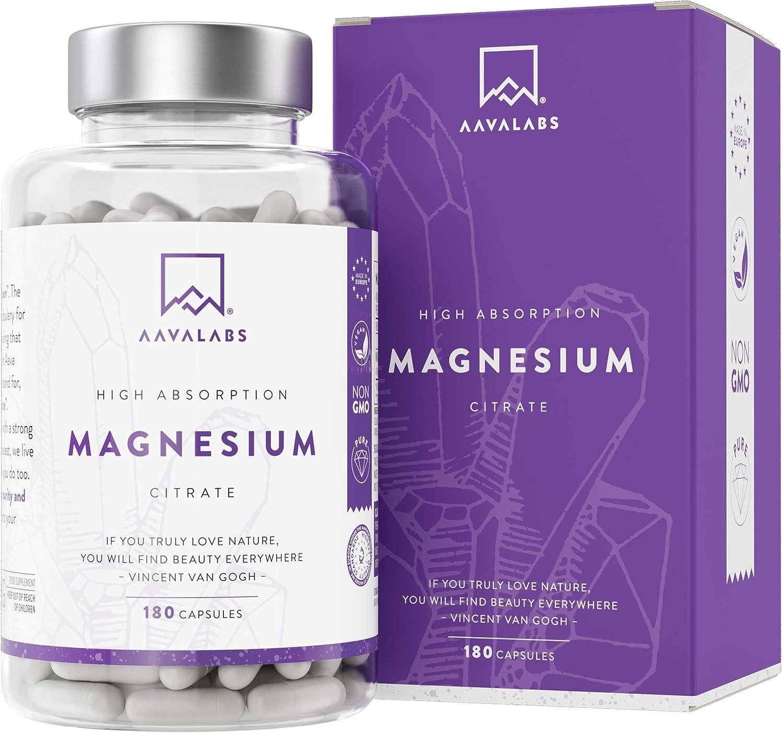Suplemento de Citrato de Magnesio - 180 cápsulas