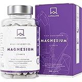 Suplemento de Citrato de Magnesio [ 400 mg ] de AAVALABS - Para un Funcionamiento Normal de los Huesos, Sistema Nervioso y Músculos – Sin Transgénicos y Vegano - 180 Cápsulas