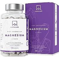Citrate de magnésium [ 400 mg ] Complément alimentaire 180 Gélules par Aava Labs - Pur - Muscles et os - Qualité nordique - 100% végétalien et sans OGM.