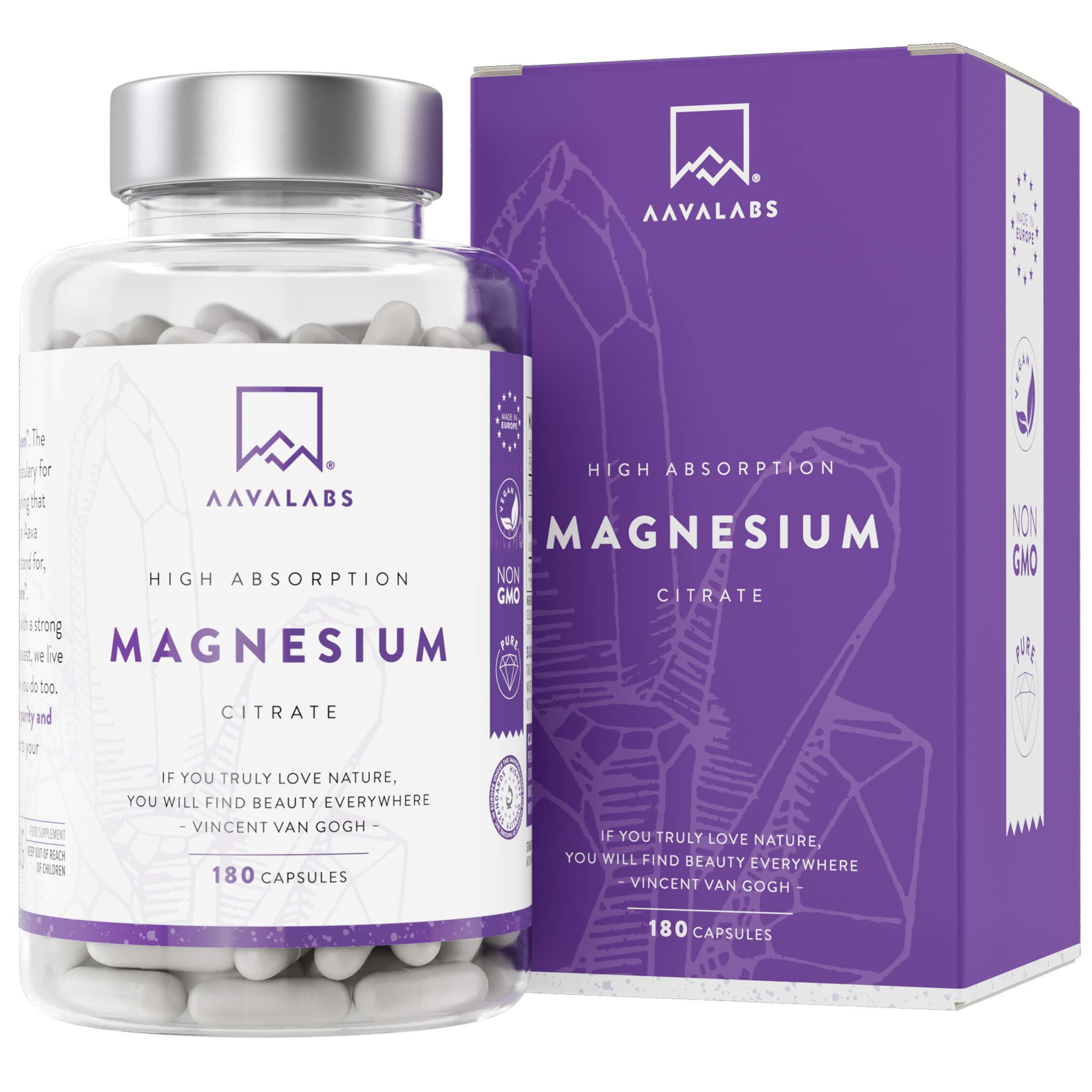 Suplemento de citrato de magnesio [ 400 mg ] de Aava Labs - Para el apoyo