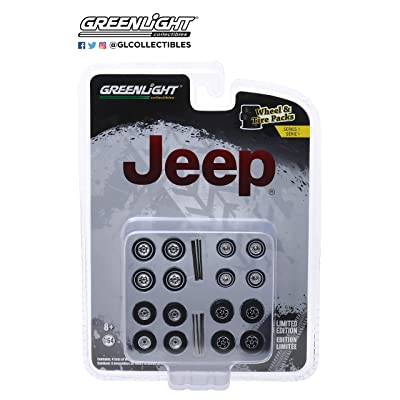 GL Greenlight 1:64 Jeep Wheels & Tire Pack Series 1: Toys & Games