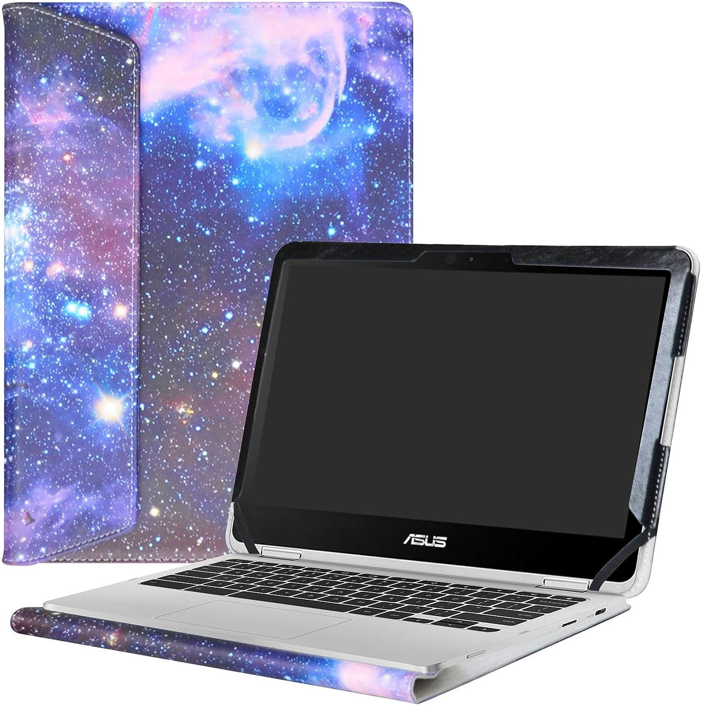 "Alapmk Protective Case Cover for 12.5"" Asus Chromebook Flip C302CA Laptop(Not fit ASUS Chromebook Flip C213SA/C100PA/C101PA/C300SA/C202SA/C201PA),Galaxy"