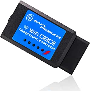 Bafx Products iPhone & Android WiFi OBDII or OBD2 Wireless Diagnostic Scanner Tool to Read & Clear a Check Engine Light