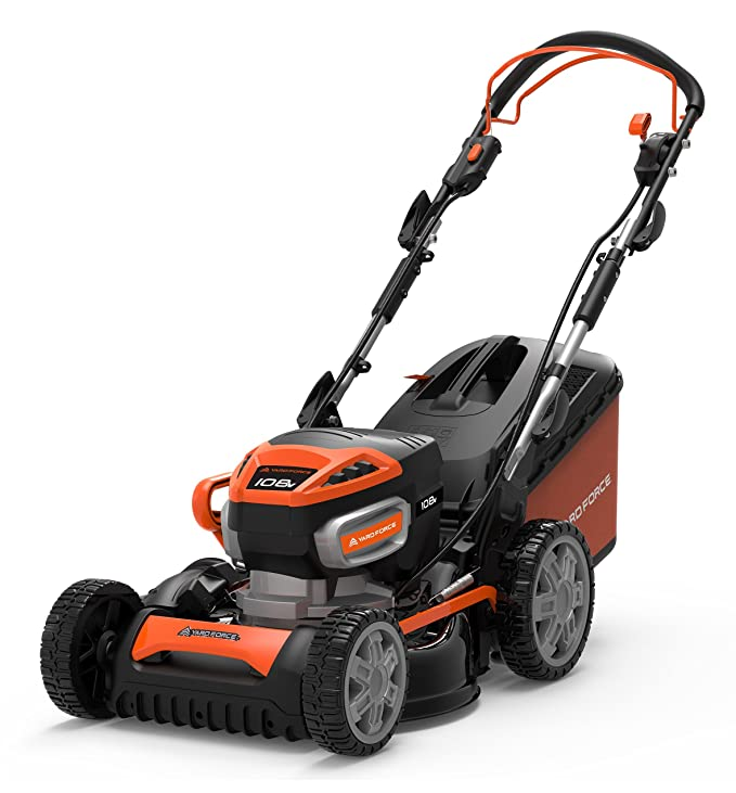 Yard Force Cordless Lawnmower 108V Li High Power Lithium-Ion Battery & Charger/ 46cm cutting width