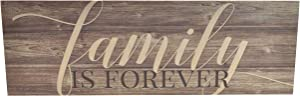 Family Is Forever Wood Rustic Style Wall Décor Sign 6x18
