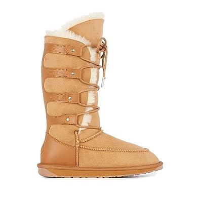 6fc6eca5ac7 Emu Australia Womens Delegate Hi Winter Real Sheepskin Boots in Chestnut