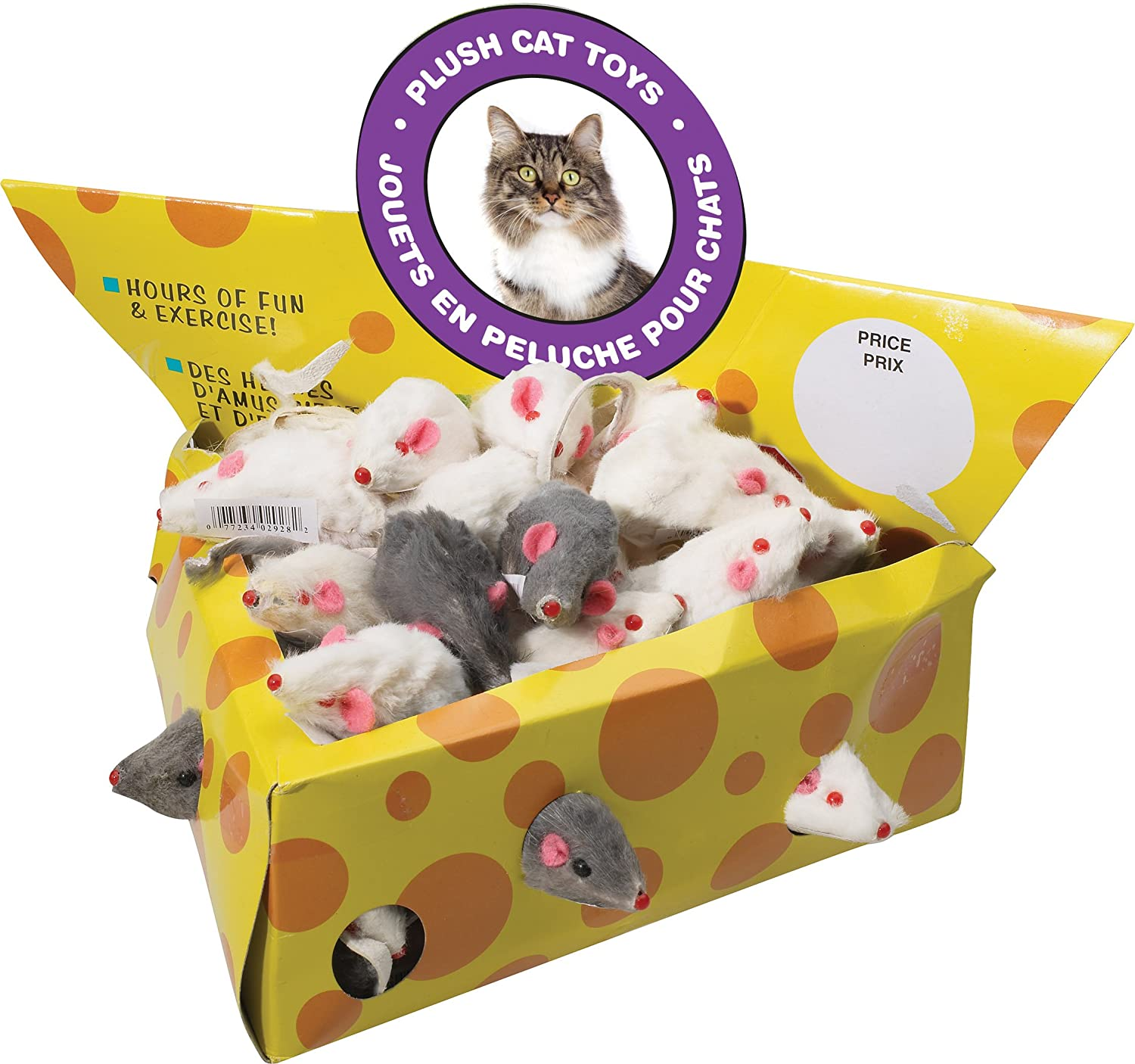 Cheesebox Mice Display For Cats 60Ct