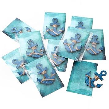 10 Stuck Kleine Blaue Anker Gastgeschenke Mitgebsel Oder Give Away