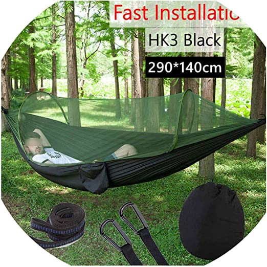 Single One Outdoor Camping Hanging Parachute Hammock Swing Bed Mosquito Net