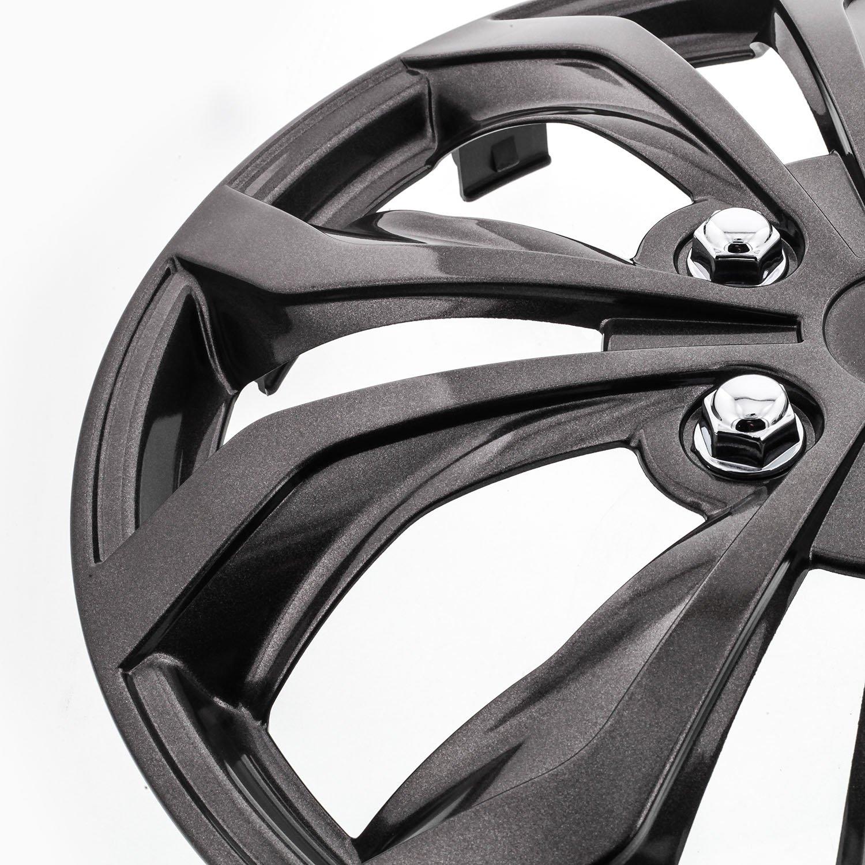 Pilot WH555-16GM-B Universal Fit Spyder Gunmetal Grey 16 Inch Wheel Covers - Set of 4 by Pilot Automotive (Image #3)