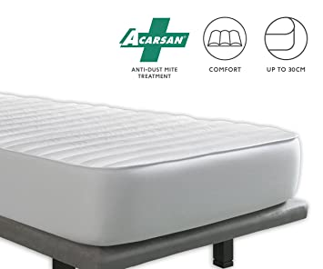 Tural - Cubrecolchón Antiácaros Reversible - Protector de colchón Acolchado. Talla 150x200cm: Amazon.es: Hogar