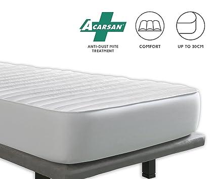 Tural Cubrecolchón Antiácaros reversible - Protector de colchón acolchado. Talla 160x200cm: Amazon.es: Hogar