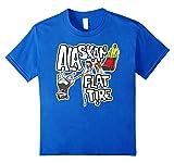Kids Funny Alaska Flat Tire Dog Sled T-shirt 12