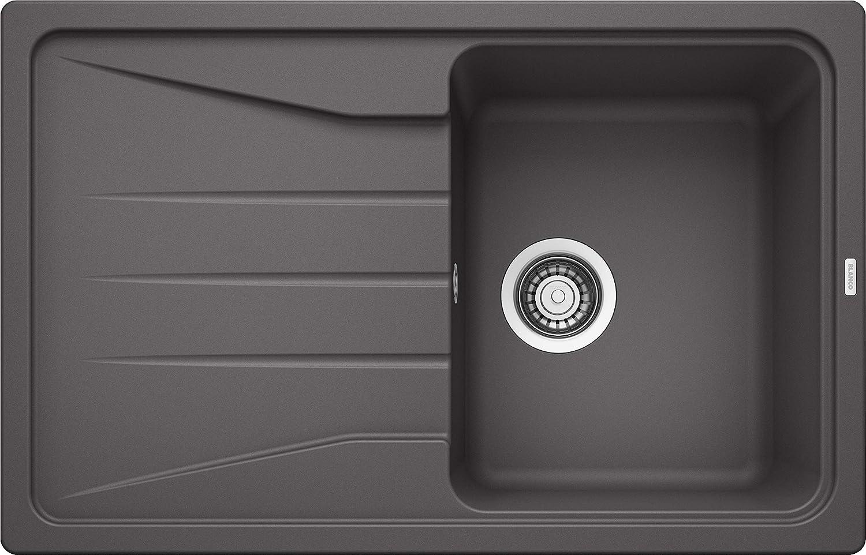 Gris anthracite 519691 gris Blanco Sona 6/S Silgranit PuraDur /Évier de cuisine encastrable et r/éversible