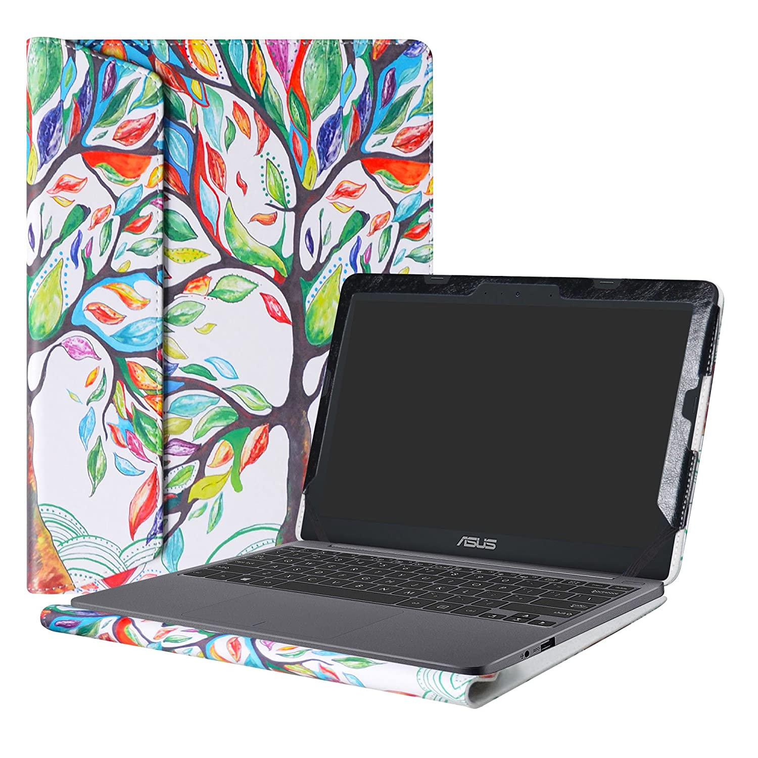 Alapmk Protective Case Cover For 11.6 ASUS VivoBook E203NA E200HA L200HA Chromebook C201 C201PA Series Laptop Warning Only fit model E203NA E200HA L200HA C201PA Love Tree