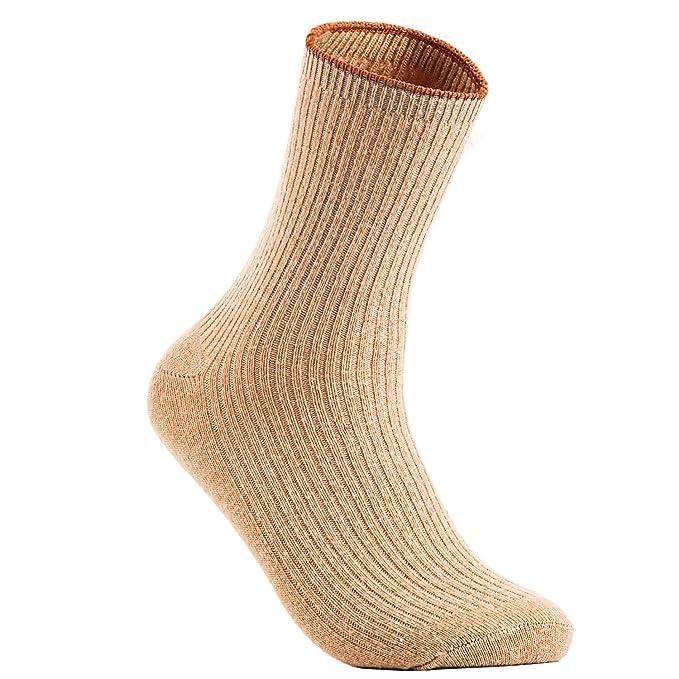 Lian estilo de vida de la mujer 1 par calcetines de lana de cachemira color sólido tamaño 7 - 9 - Beige - : Amazon.es: Ropa y accesorios