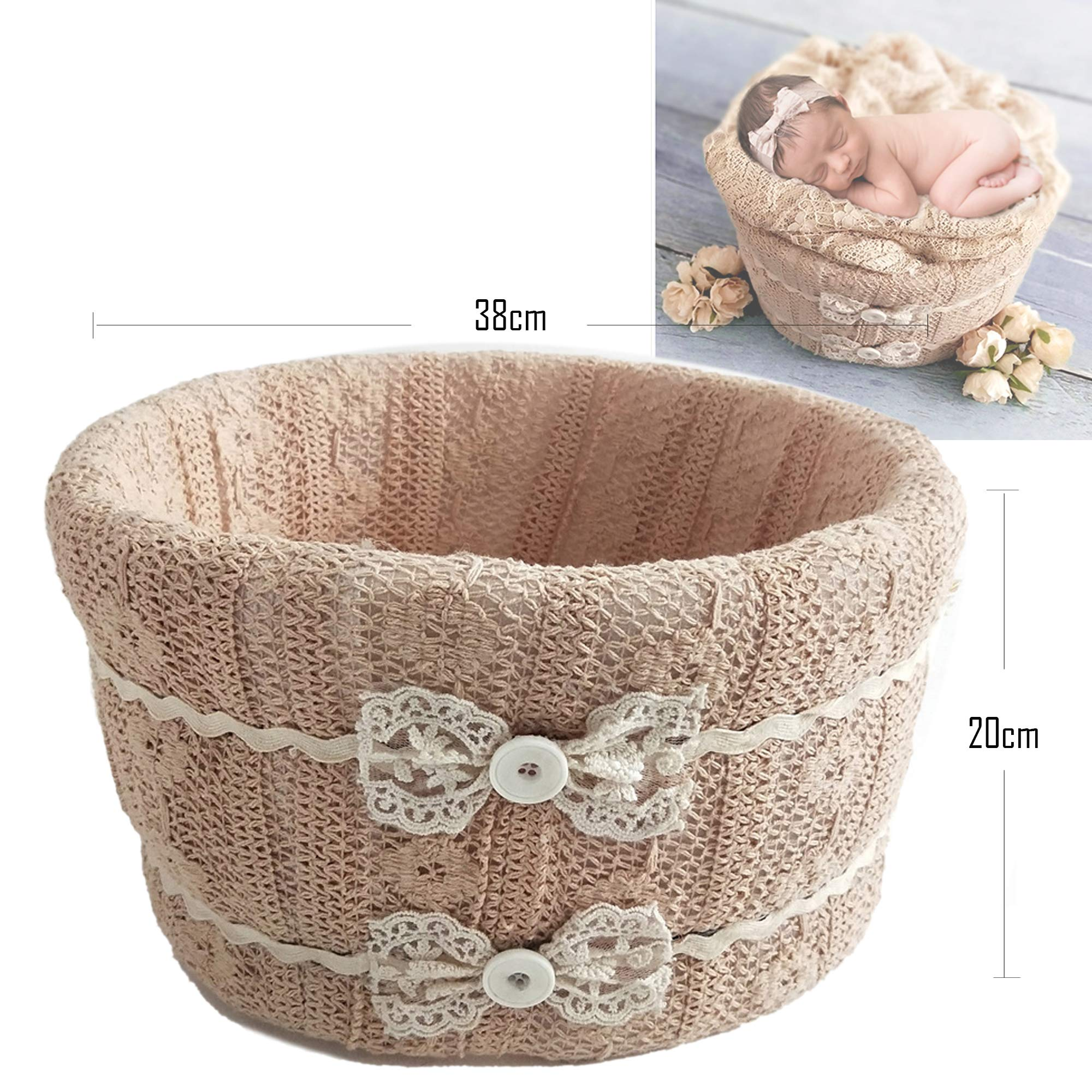 Newborn Foam Bucket Photography Props 0-6 Months Professional Posing Aid (Knot)
