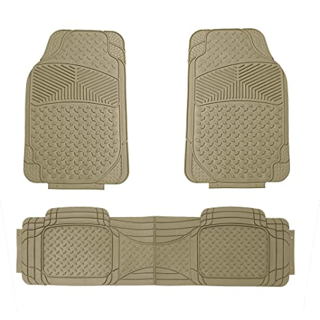 FH Group FH-F11307 Semi Custom Trimmable Heavy Duty Rubber Floor Mats Front /& Rear 3pc-Gray
