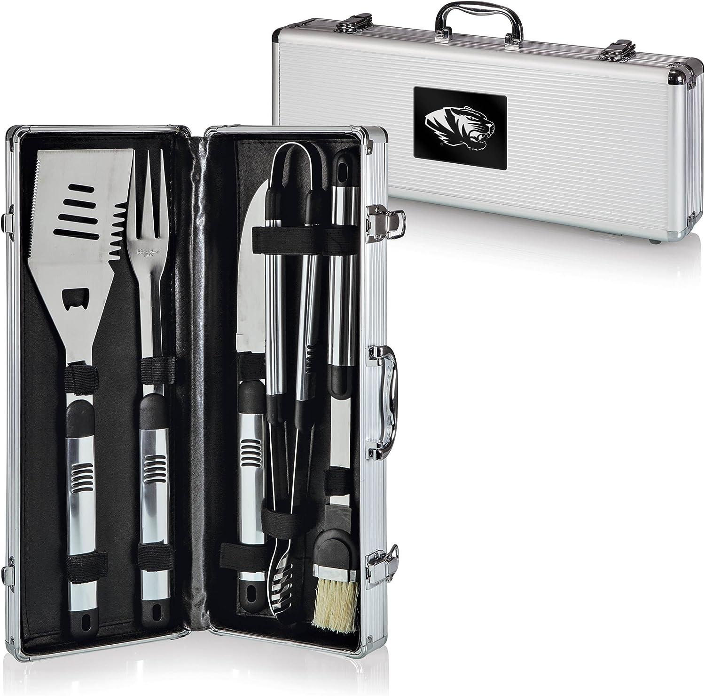 NCAA Missouri Tigers Fiero 5-Piece BBQ Tool Set With Case Picnic Time 681-00-179-393