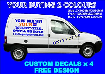 SMALL CUSTOM VAN VEHICLE GRAPHICS SIGN WRITING KIT DECALS LETTERING
