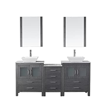 Virtu USA KD 70066 WM ZG Modern 66 Inch Double Sink Bathroom