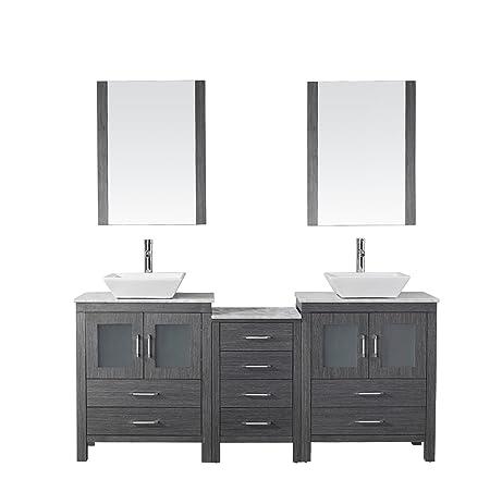 Virtu USA KD 70066 WM ZG Modern 66 Inch Double Sink Bathroom