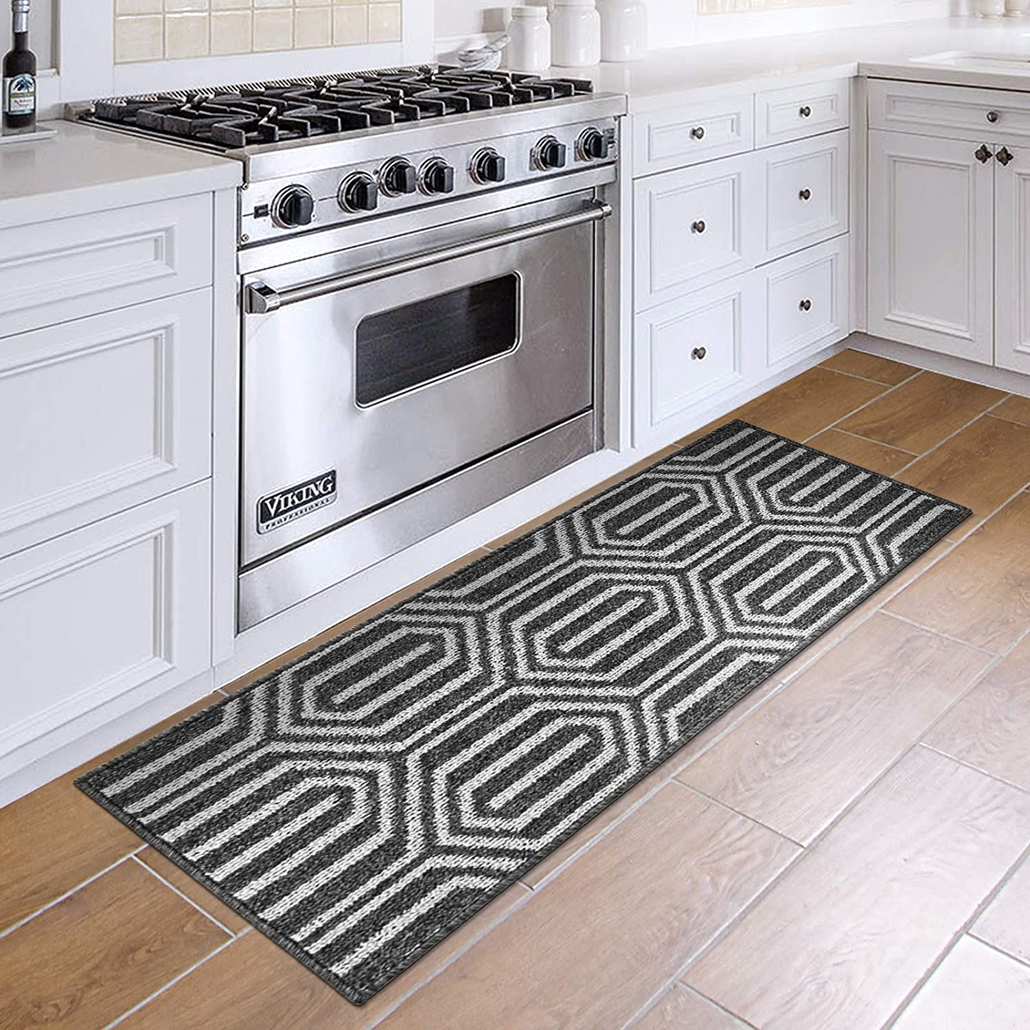 DEXI Kitchen Rug Mat Non Slip Absorbent Runner Rug for Kitchen Floor,  Entryway, Hallway and Dining Room, Machine Washable Carpet 9