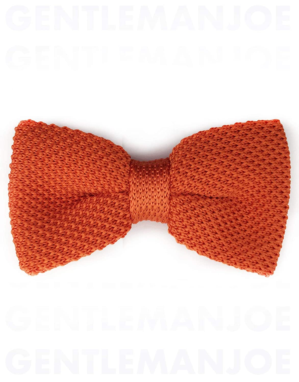 Gentleman Joe Pumpkin Orange Knit Bow Tie Multicolored