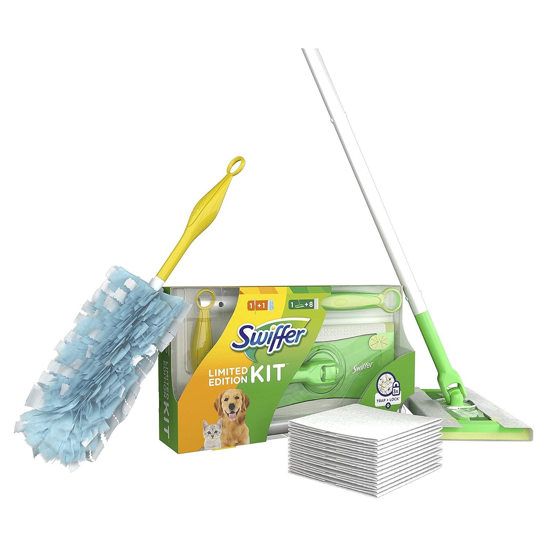 Swiffer Juego de mopa con 8 paños de suelo para el polvo y 1 mango con 1 paño magnético, pack con 1 pieza: Amazon.es: Salud y cuidado personal
