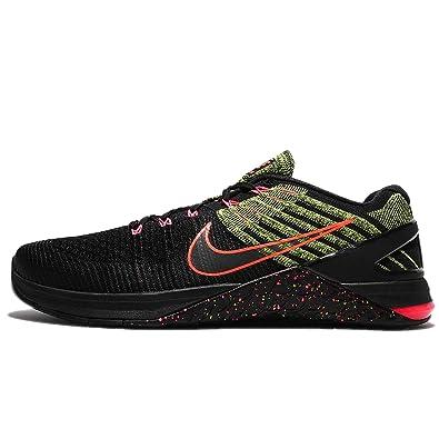 7bbd69793715 Nike Metcon DSX Flyknit 852930-010 Dark Grey Crimson Black Men s Training  Shoes