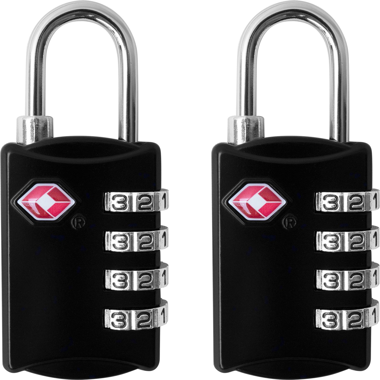 TSA Luggage Locks (2 Pack) - 4 Digit Combination Steel Padlocks - Approved Travel Lock for Suitcases & Baggage - Black by desired tools