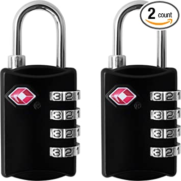 Amazon.com: TSA Luggage Locks (2 Pack) - 4 Digit Combination Steel ...
